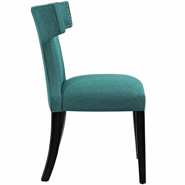 Curve Teal Fabric Side Chair by Modway