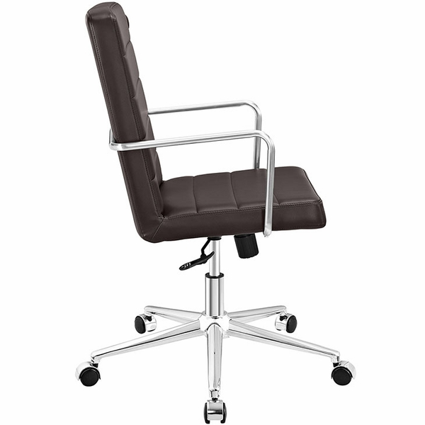 Cavalier Brown Vinyl Highback Office Chair by Modway