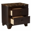 Conner Cappuccino Wood 2-Drawer Nightstand by Coaster