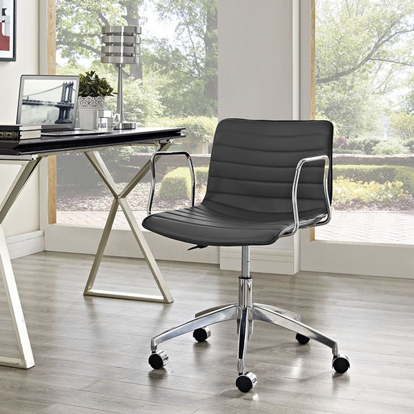 Celerity Gray Vinyl Office Chair by Modway