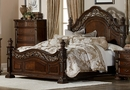 Catalonia Cherry Wood Queen Bed with Resin Decoration by Homelegance