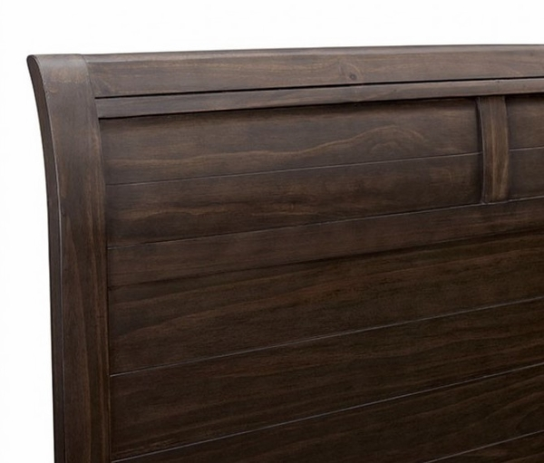 Alaina Walnut Wood King Bed (Oversized) by Furniture of America