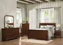 Abbeville Brown Cherry Cal King Sleigh Bed by Homelegance