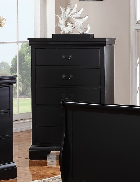 Fiona 3-Pc Dark Espresso Full Bedroom Set with Sleigh Bed by Poundex