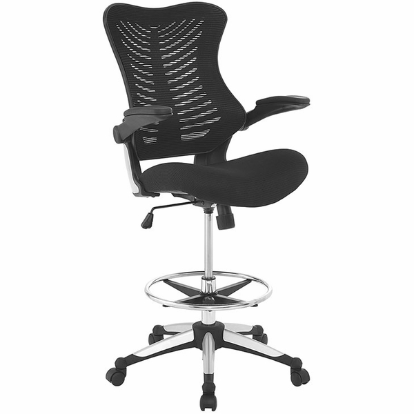 Charge Black Drafting Chair by Modway