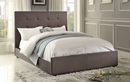 Cadmus Dark Gray Cal King Bed with Tufted Headboard by Homelegance
