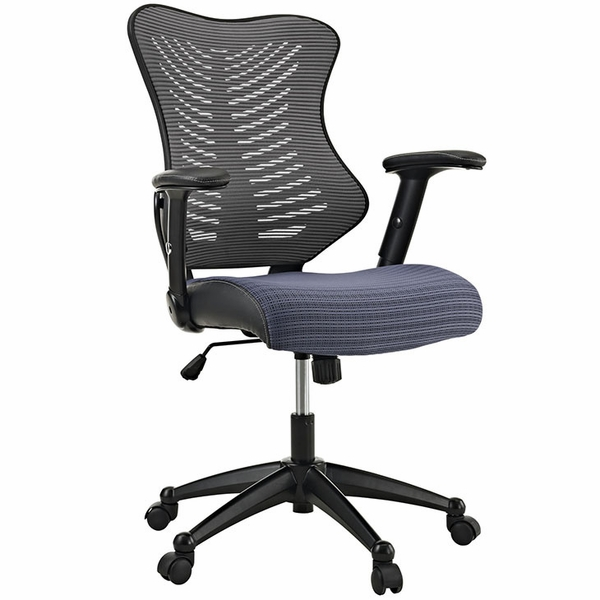 Clutch Gray Office Chair by Modway