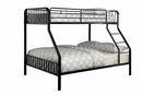 Clement Black Metal Twin/Full Bunk Bed by Furniture of America