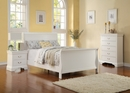 Fiona 3-Pc White Wood Full Bedroom Set by Poundex