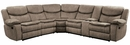 Bastrop 3Pc Brown Fabric Manual Recliner Sectional Sofa by Homelegance