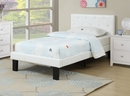 Dodie 4-Pc White Wood/Faux Leather Twin Bedroom Set by Poundex