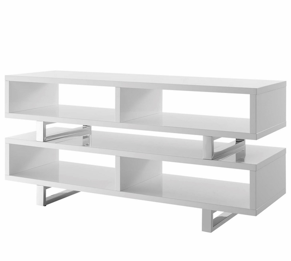 Amble White Wood TV Stand by Modway