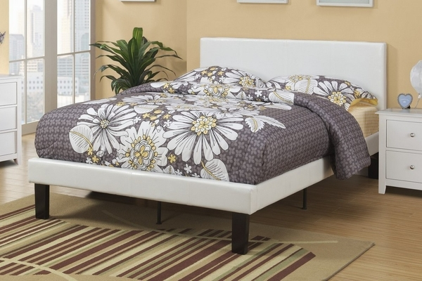 Jules 4-Pc Cream Wood/Faux Leather Twin Bedroom Set by Poundex