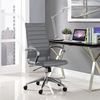 Jive Gray Vinyl/Chrome Highback Office Chair by Modway