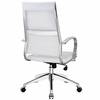 Jive White Vinyl/Chrome Highback Office Chair by Modway