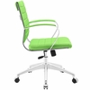 Jive Bright Green Vinyl/Chrome Mid Back Office Chair by Modway