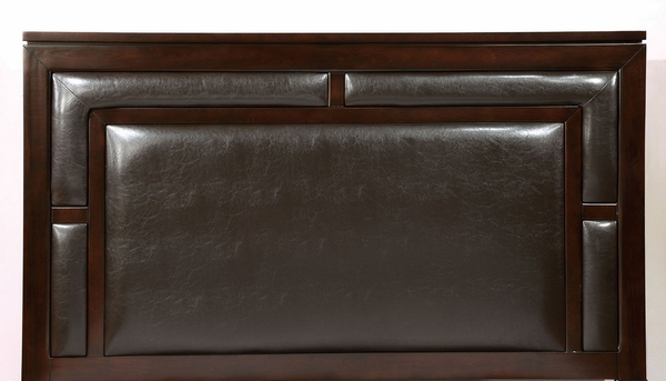 Balfour Brown Cherry King Storage Bed by Furniture of America