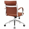 Jive Terracotta Vinyl/Chrome Mid Back Office Chair by Modway
