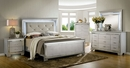 Bellanova Contemporary Silver Cal King Bed by Furniture of America