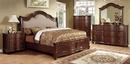 Bellavista Brown Cherry King Bed (Oversized) by Furniture of America