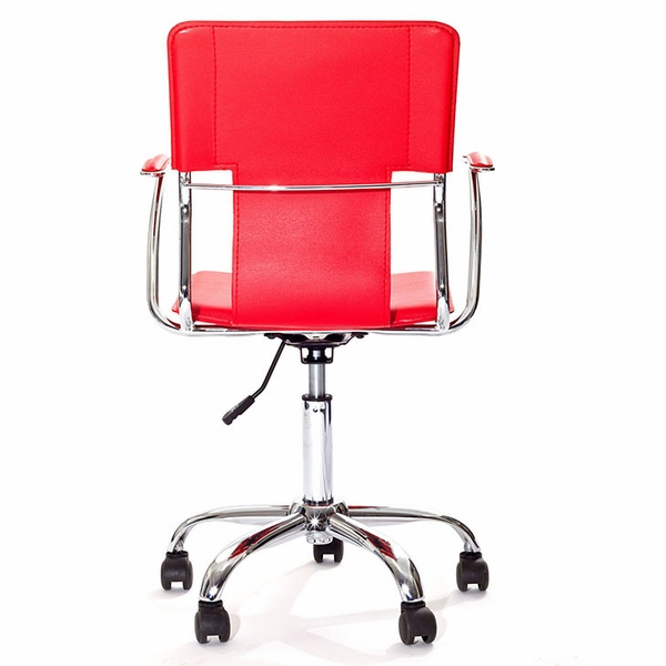 Studio Red Vinyl Upholstered Office Chair by Modway