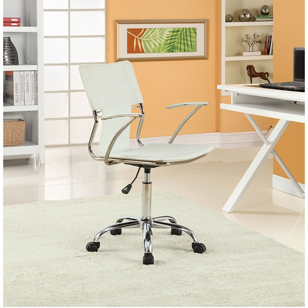 Studio White Vinyl Upholstered Office Chair by Modway