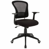 Poise Black Plastic Frame/Nylon Office Chair by Modway