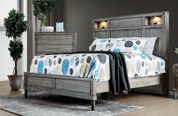 Daphne King Bed with Built-in Touch Light by Furniture of America