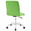 Prim Bright Green Faux Leather Armless Mid Back Office Chair by Modway
