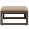 Fortuna Brown/Mocha Fabric Outdoor Patio Ottoman by Modway