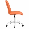 Prim Orange Faux Leather Armless Mid Back Office Chair by Modway