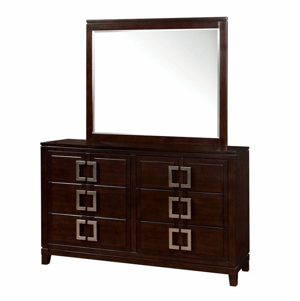 Balfour Brown Cherry Wood Dresser by Furniture of America