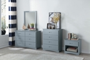 Orion Gray Wood 4-Drawer Chest by Homelegance