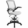 Veer Gray Plastic Drafting Chair by Modway