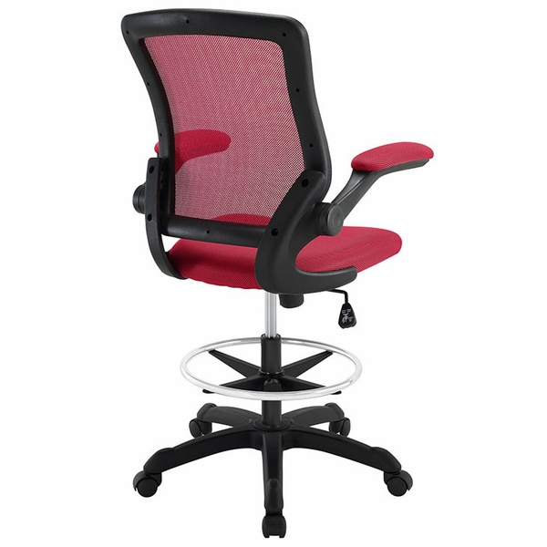 Veer Red Plastic Drafting Chair by Modway