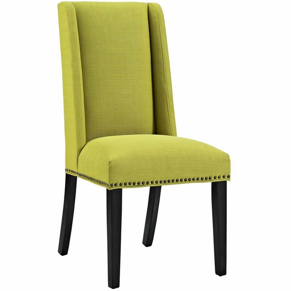Baron Wheatgrass Fabric Upholstered Side Chair by Modway