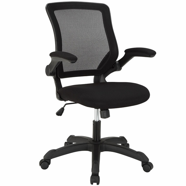 Veer Black Fabric Covered Office Chair by Modway
