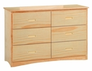 Bartly Natural Wood 6-Drawer Dresser by Homelegance
