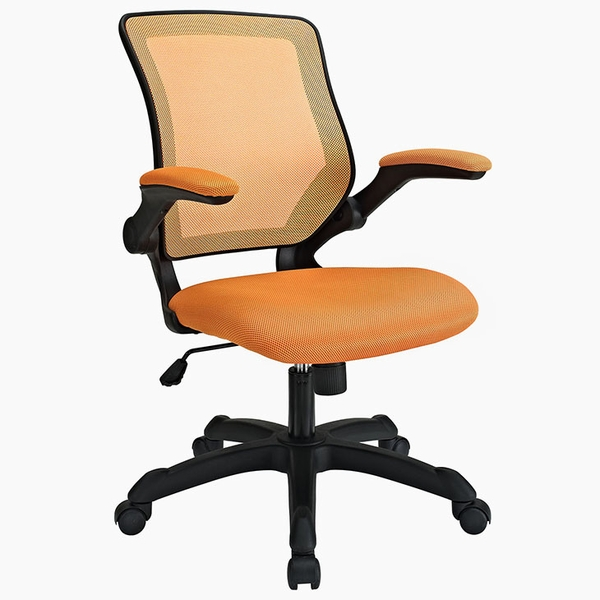 Veer Orange Fabric Covered Office Chair by Modway