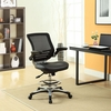Edge Black Drafting Chair by Modway
