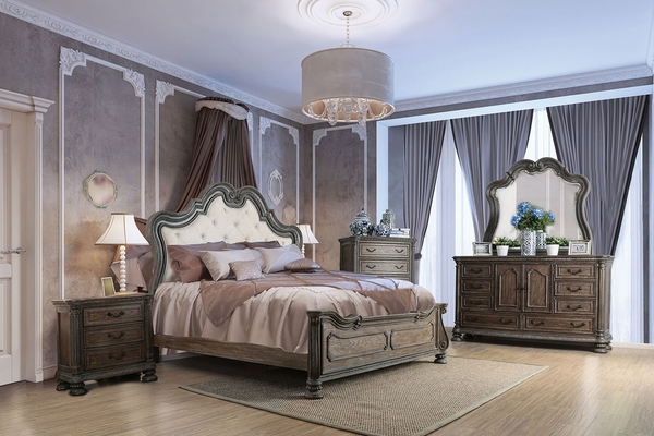 Ariadne Natural Tone Wood Queen Bed by Furniture of America