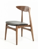 Modrest Anson 2 Black Leatherette/Wood Side Chairs by VIG Furniture