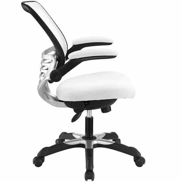 Edge White Mesh Office Chair by Modway