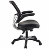 Edge Black Vinyl Office Chair by Modway