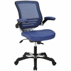 Edge Blue Vinyl Office Chair by Modway