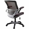 Edge Brown Vinyl Office Chair by Modway