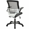 Edge Gray Vinyl Office Chair by Modway