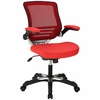 Edge Red Vinyl Office Chair by Modway