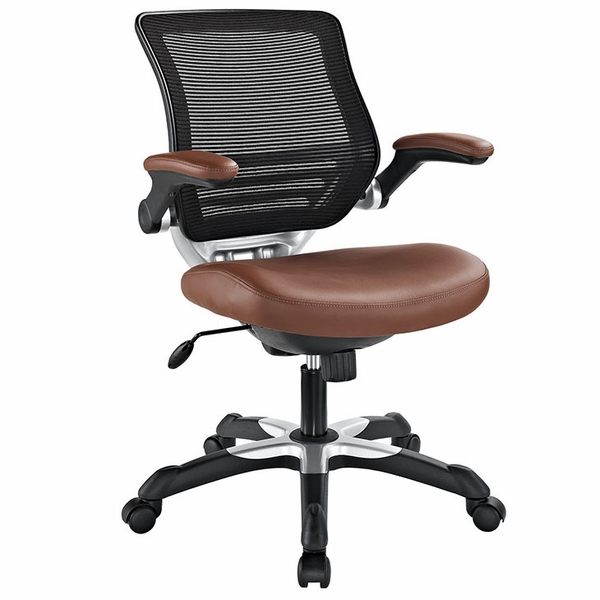 Edge Tan Vinyl Office Chair by Modway