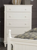 Clementine Antique White Wood Chest by Homelegance